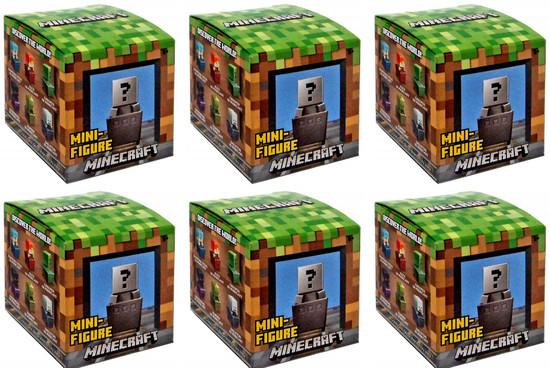 Minecraft Minecart Series 1 LOT of 6 Mystery Packs