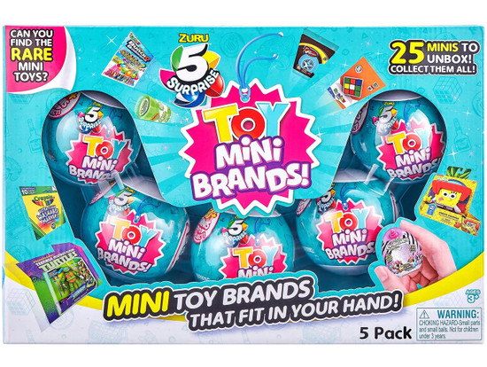 5 Surprise Mini Brands! TOY Exclusive Mystery 5-Pack Box Set