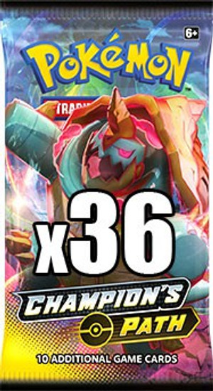 Pokemon Trading Card Game Champion's Path LOT of 36 Booster Packs [Equivalent of a Box]