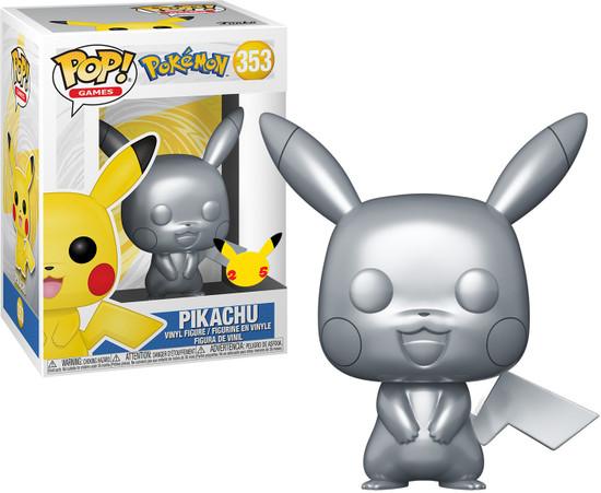 Funko Pokemon POP! Games Pikachu Vinyl Figure #353 [Metallic Silver] (Pre-Order ships March)
