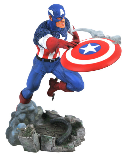 Marvel Gallery Vs. Captain America 9-Inch PVC Figure Statue [Throwing Shield] (Pre-Order ships June)