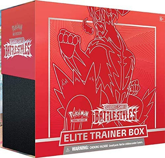 Pokemon Trading Card Game Sword & Shield Battle Styles Gigantamax Urshifu Single Strike Elite Trainer Box [8 Booster Packs, 65 Card Sleeves, 45 Energy Cards & More]