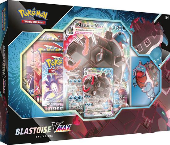 Pokemon Trading Card Game Blastoise VMAX Battle Box [4 Booster Packs, Promo Card, Oversize Card & 65 Card Sleeves]