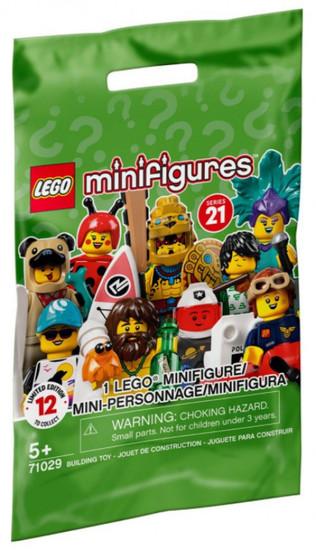 LEGO Minifigures Series 21 Mystery Pack #71029 [1 RANDOM Figure]