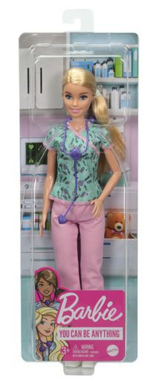 Nurse Barbie Doll [Aqua & Pink Scrubs] (Pre-Order ships March)