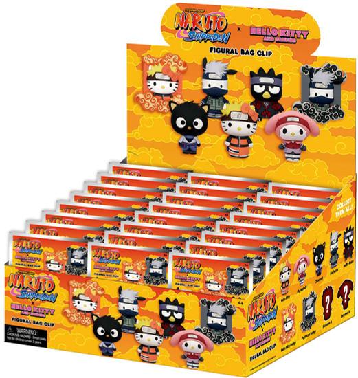 Naruto Shippuden 3D Figural Keyring Hello Kitty x Naruto Mystery Box [24 Packs!] (Pre-Order ships April)