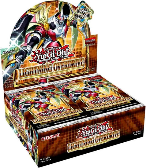 YuGiOh Trading Card Game Lightning Overdrive Booster Box [24 Packs] (Pre-Order ships May)