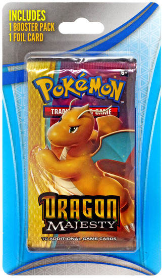 Pokemon Trading Card Game Dragon Majesty BLISTER Booster Pack [1 Pack + 1 Foil Card]