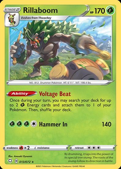 Pokemon Shining Fates Holo Rare Rillaboom #13