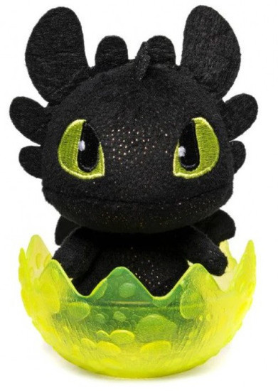 How to Train Your Dragon The Hidden World Baby Toothless 3-Inch Egg Plush [Yellow Egg]