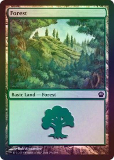 MtG Theros Land Forest #246 [#246 Foil]