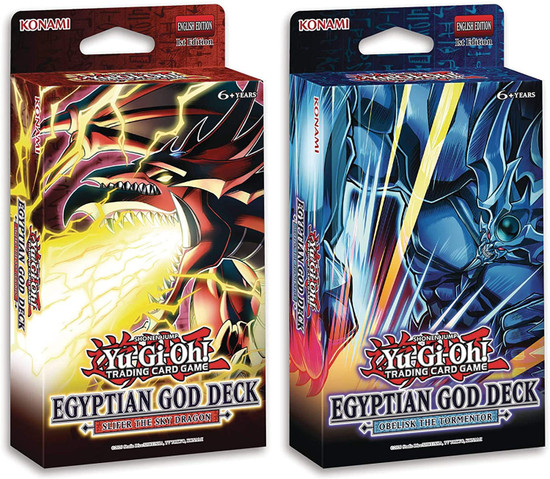 YuGiOh Trading Card Game Slifer the Sky Dragon & Obelisk the Tormentor Set of 2 Egyptian God Decks (Pre-Order ships June)