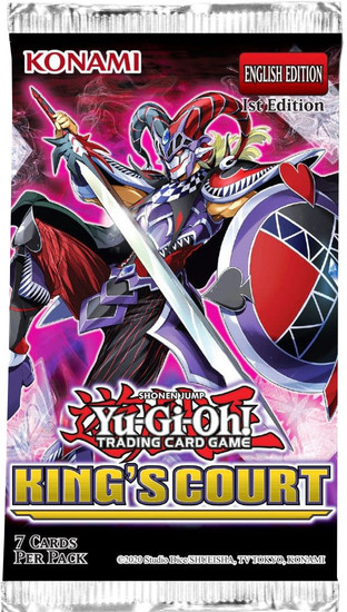 YuGiOh Trading Card Game King's Court Booster Pack [7 Cards] (Pre-Order ships July)