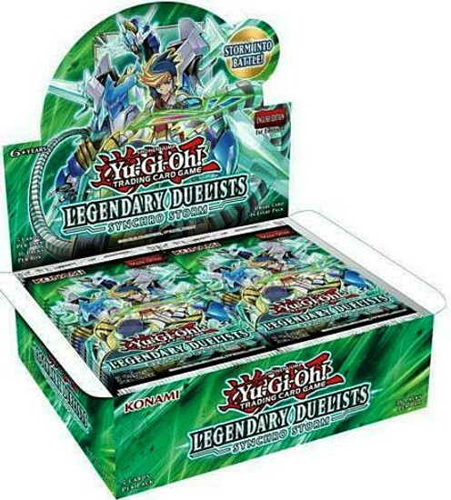 YuGiOh Trading Card Game Legendary Duelists Synchro Storm Booster Box [36 Packs] (Pre-Order ships July)