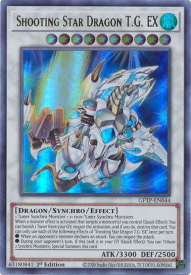 YuGiOh Ghosts From the Past Ultra Rare Shooting Star Dragon T.G. EX GFTP-EN044