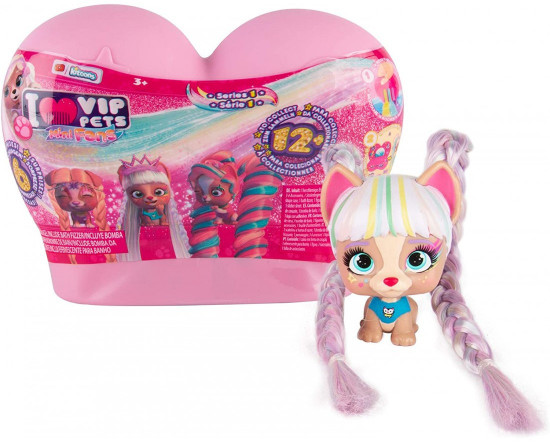 VIP Pets Series 1 Mini Fans Mystery Surprise Hair Reveal Doll