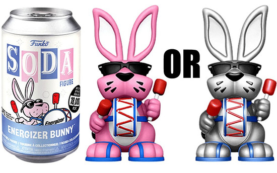Funko Vinyl Soda Energizer Bunny Exclusive Limited Edition of 18,000! Vinyl Figure [1 RANDOM Figure, Look For The Chase!]