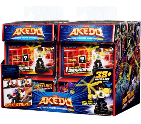 Akedo Ultimate Arcade Warriors Series 1 Mini Battling Action Figure MYSTERY Box [8 Packs]