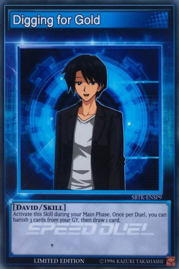 YuGiOh Speed Duel: Trials of the Kingdom Common Digging for Gold SBTK-ENSP9