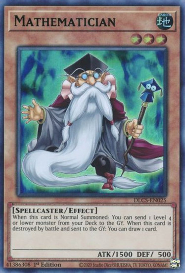 YuGiOh Dragons of Legend: The Complete Series Ultra Rare Mathematician DLCS-EN025 [Green Variant]