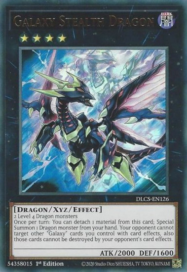 YuGiOh Dragons of Legend: The Complete Series Ultra Rare Galaxy Stealth Dragon DLCS-EN126