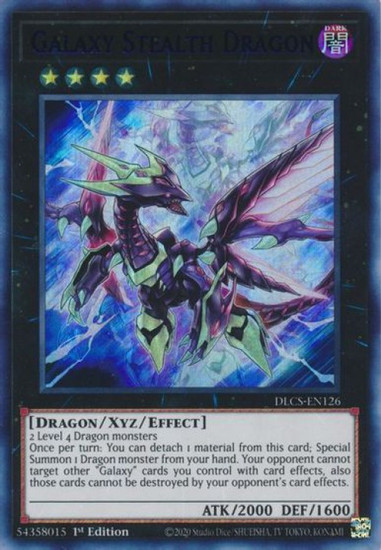 YuGiOh Dragons of Legend: The Complete Series Ultra Rare Galaxy Stealth Dragon DLCS-EN126 [Blue Variant]