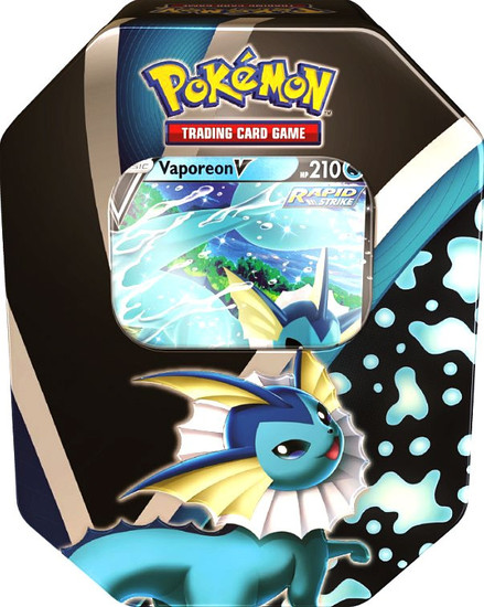 Pokemon Trading Card Game Eevee Evolutions Vaporeon V Tin [4 Booster Packs & Promo Card]