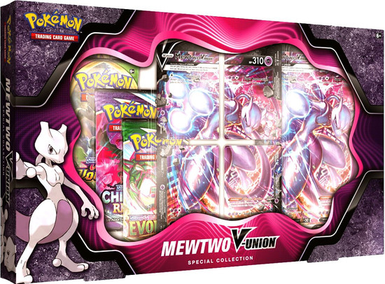 Pokemon Trading Card Game Mewtwo V-Union Special Collection [4 Booster Packs, 4 Promo Cards, Oversize Card & More] (Pre-Order ships October)