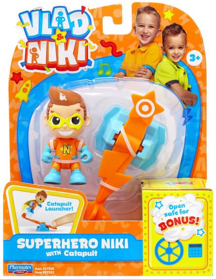Vlad & Niki Superhero Niki Figure Set [with Catapult]