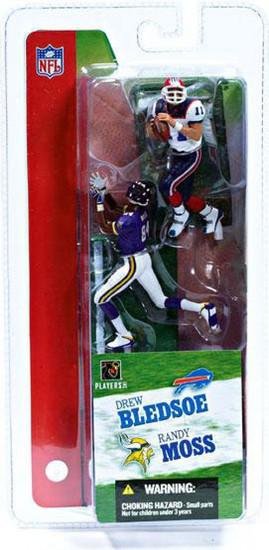 McFarlane Toys NFL Minnesota Vikings / Buffalo Bills Sports Picks 3 Inch Mini Series 2 Randy Moss & Drew Bledsoe Mini Figure 2-Pack 2-Pack