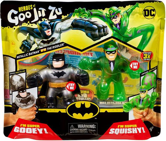 Heroes of Goo Jit Zu DC Metallic Batman vs.The Riddler Action Figure 2-Pack