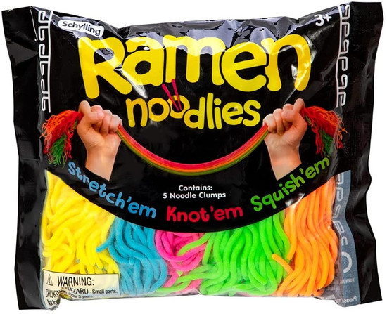 NeeDoh The Groovy Glob Ramen Noodlies Stretchy Stress Strings