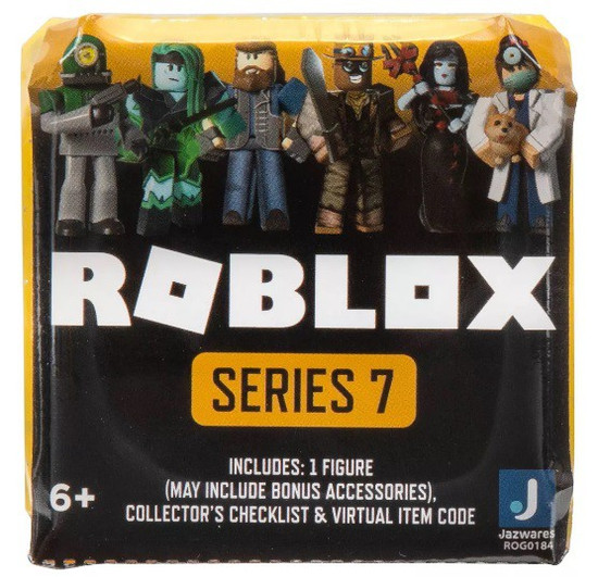 Roblox Celebrity Collection Series 7 Mystery Pack [Neon Yellow Cube, 1 RANDOM Figure & Virtual Item Code]