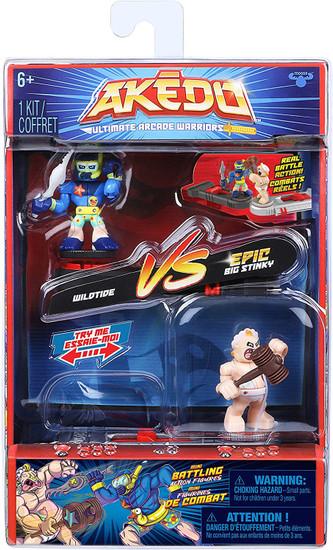 Akedo Ultimate Arcade Warriors Series 1 Wildtide Vs. Big Stinky Mini Battling Action Figure VERSUS Pack