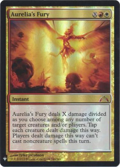 MtG Mystery Booster / The List Mythic Rare Foil Aurelia's Fury #144