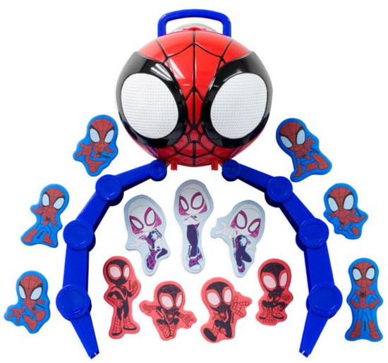 Marvel Spidey & His Amazing Friends Carry Case with 13 Foam Characters Bath Play Set (Pre-Order ships October)