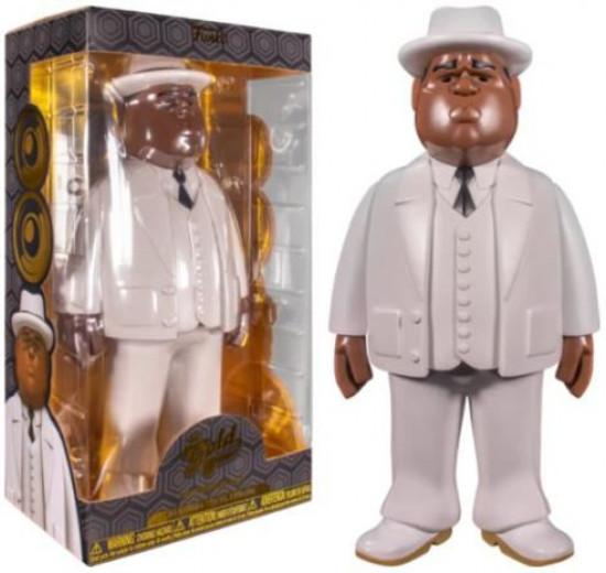 Biggie Smalls Funko Gold Notorious B.I.G. 12-Inch Premium Vinyl Figure [White Suit, 12 Inch] (Pre-Order ships November)