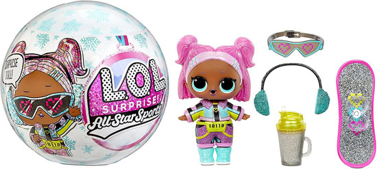 LOL Surprise All Stars BBs Series 5 Winter Games Icy Sk8tes Mystery Pack [Blue]