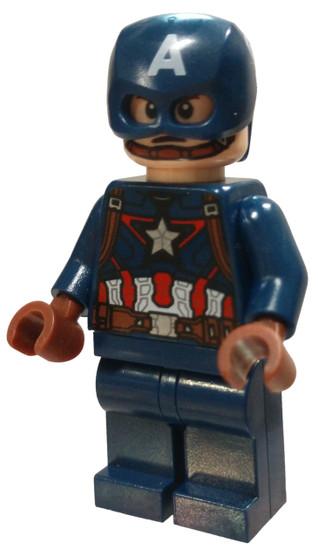 LEGO Marvel Super Heroes Avengers Captain America [Dark Blue Suit, Helmet, Brown hands Loose]