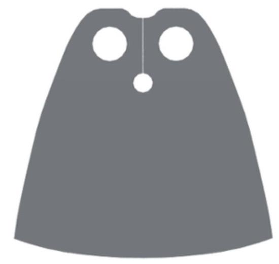 LEGO Capes Dark Bluish Gray Cape [Loose]