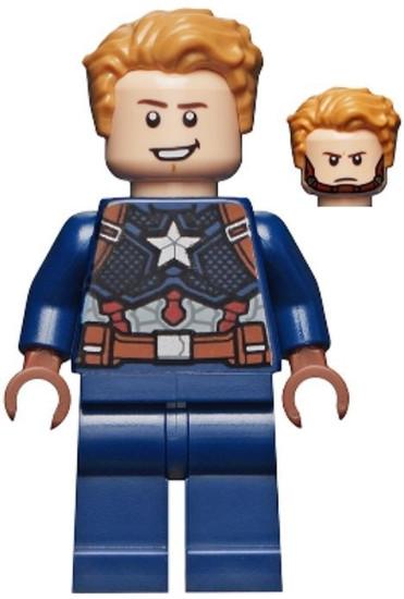 LEGO Marvel Super Heroes Avengers Endgame Captain America [Detailed Suit Loose]
