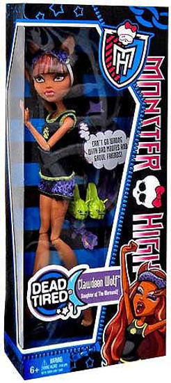 Monster High Dead Tired Clawdeen Wolf 10.5-Inch Doll
