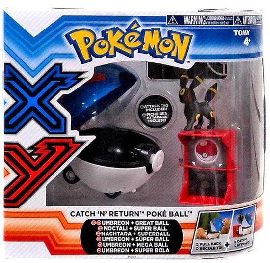 Pokemon Catch n Return Pokeball Umbreon & Great Ball Figure Set