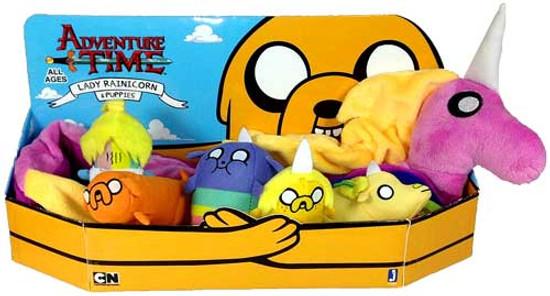 Adventure Time Lady Rainicorn & Puppies Exclusive Plush Set