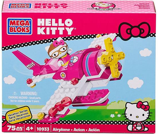 Mega Bloks Hello Kitty Vacation Series Airplane Set #10933