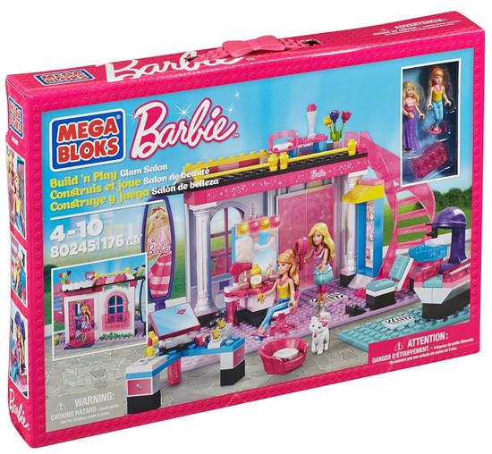 Mega Bloks Barbie Build 'n Play Glam Salon Set #80245