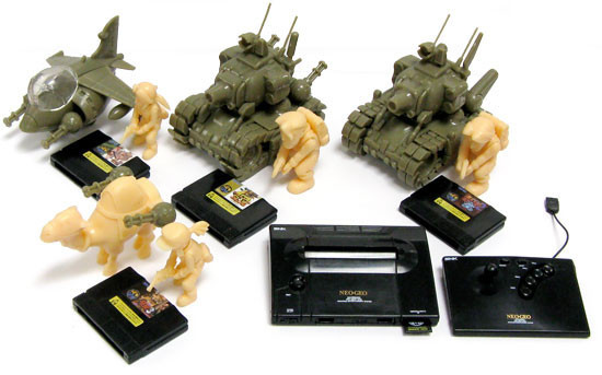 Metal Slug Neo Geo Set of 5 A.R.T.S. Gashapon Models