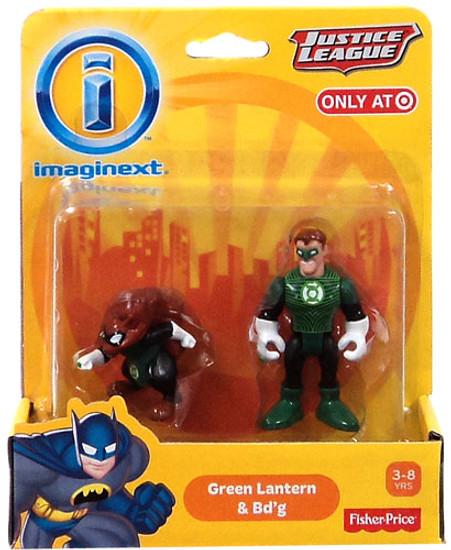 Fisher Price DC Super Friends Imaginext Justice League Green Lantern & Bd'g Exclusive 3-Inch Mini Figures