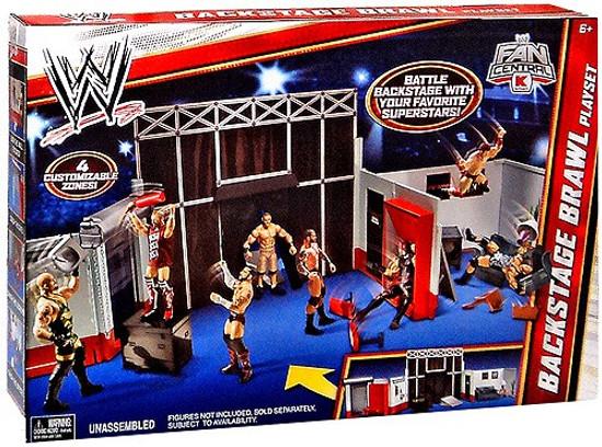 WWE Wrestling Backstage Brawl Exclusive Superstar Ring
