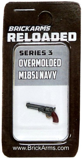 BrickArms Reloaded Series 3 Weapons M1851 Navy Revolver 2.5-Inch [Overmolded] [New Sealed]